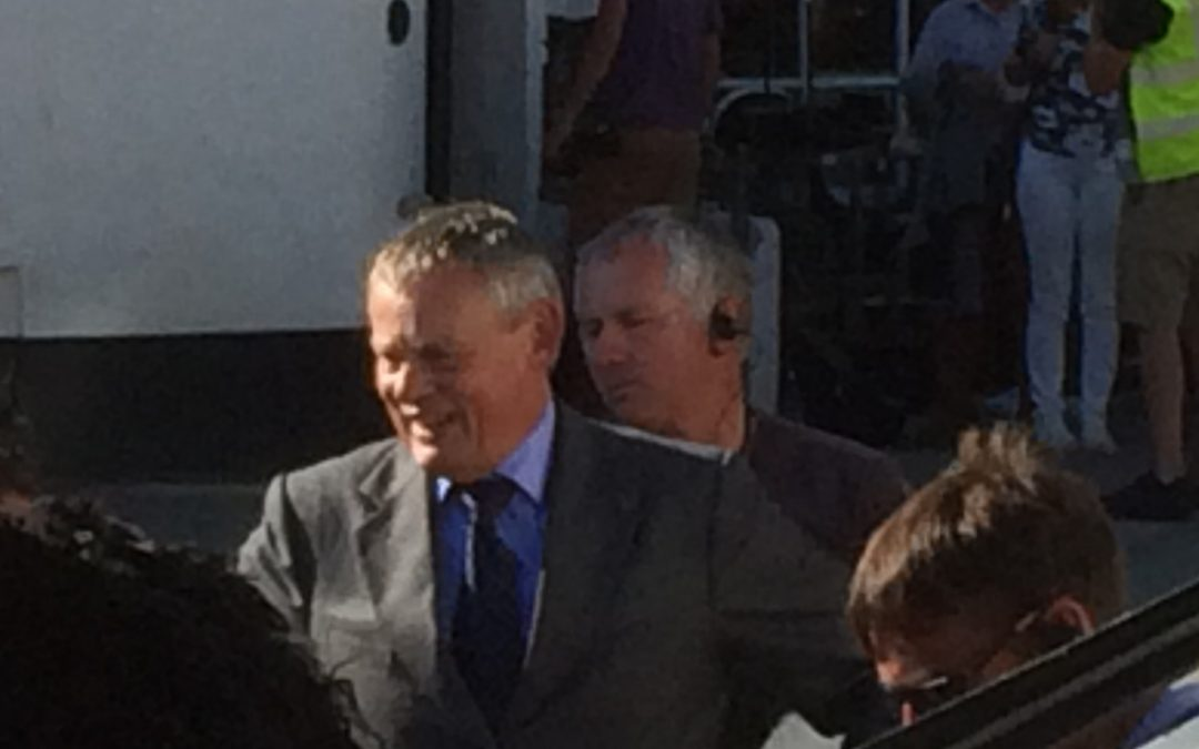 Doc Martin seen by cottage visitors