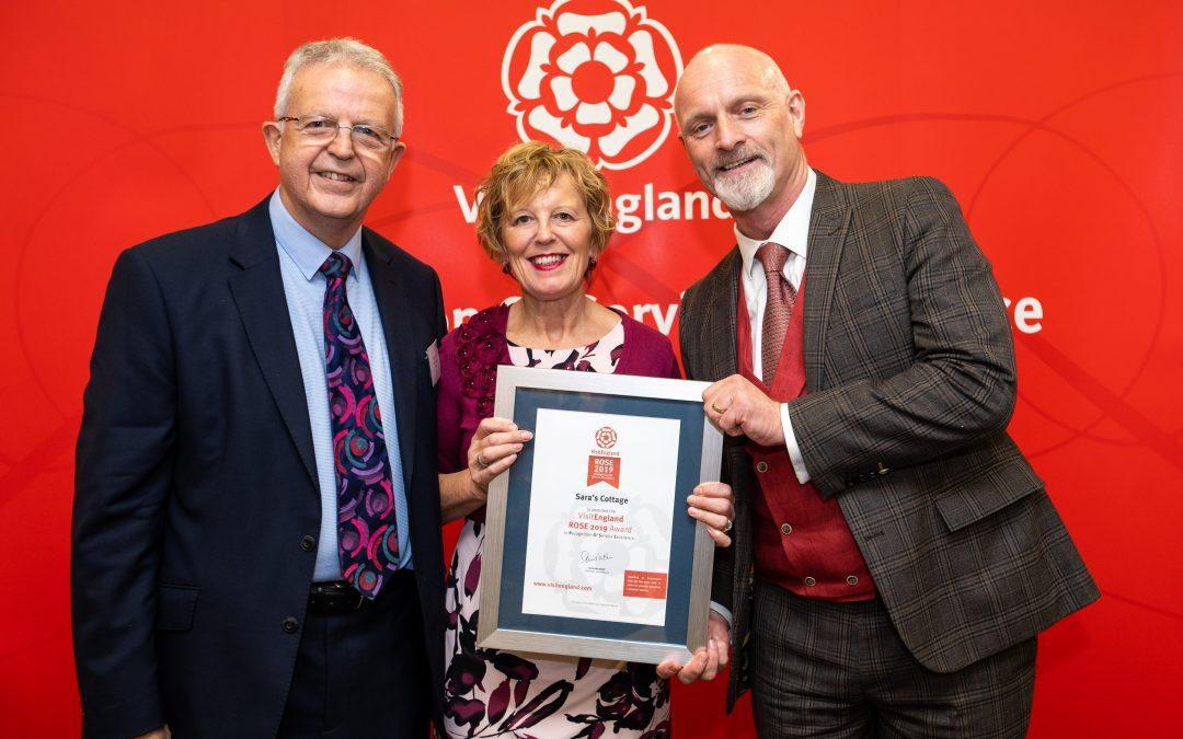 We have been awarded a Visit England Rose Award
